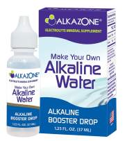 Alkazone Make Your Own Alkaline Water | 1 Pack Makes 20 Gallon of Alkaline Water | Alkaline Booster Drop | Single Pack 1.25 Oz |