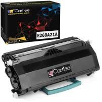 Cartlee Compatible Black High Yield Laser Toner Cartridge Replacement for Lexmark E260 E260d E260dn E360 E360d E360dn E360dt E360dtn E460 E460d E460dn E460dtw E460dtn E460dw E462 E462dtn Printers