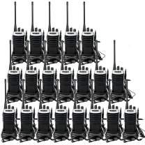 Retevis RT7 Walkie Talkies Adults Long Range 2 Way Radios 16CH VOX FM Flashlight Emergency Two-Way Radios with Earpiece(20 Pack)
