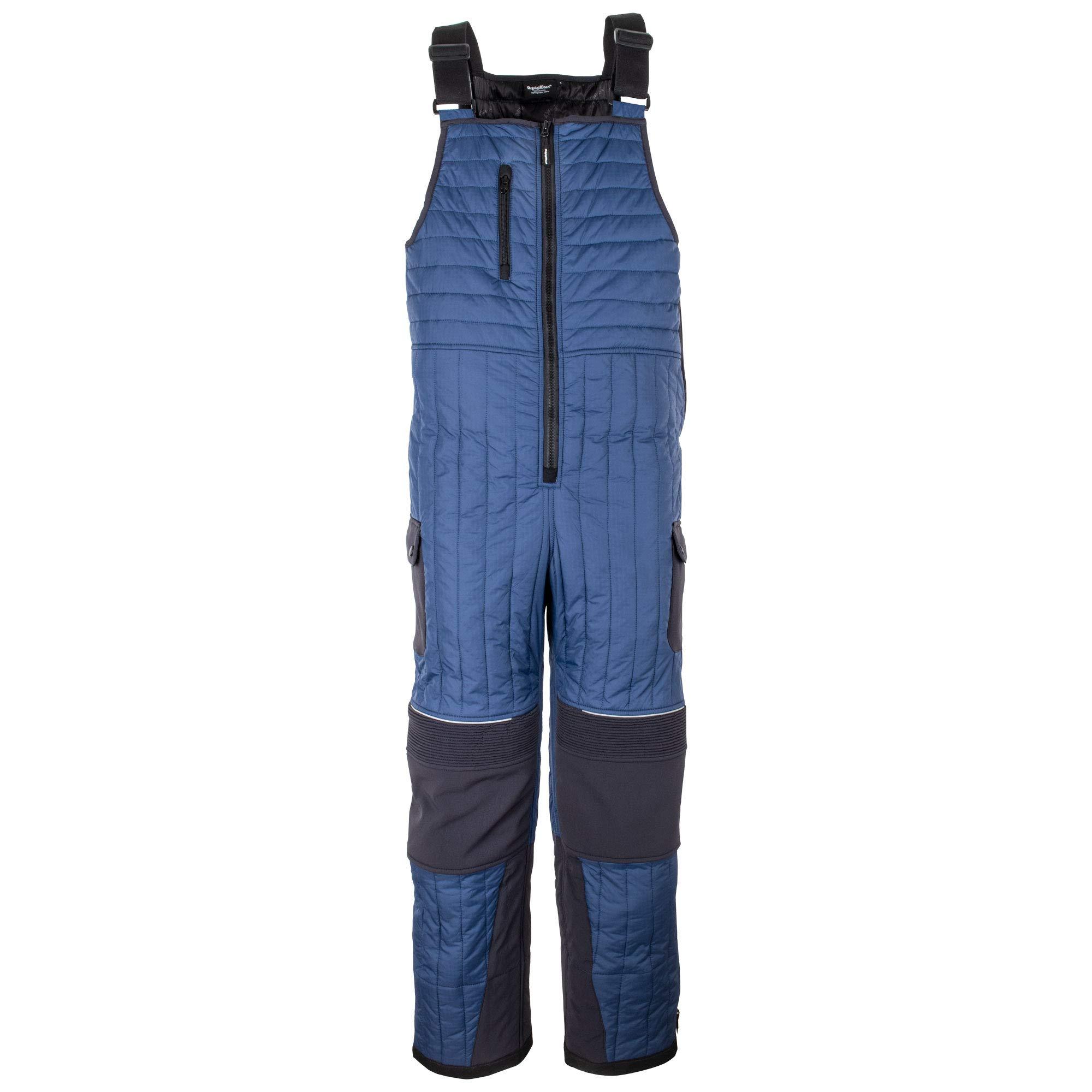 RefrigiWear Men's Frostline Insulated Bib Overalls with Performance-Flex