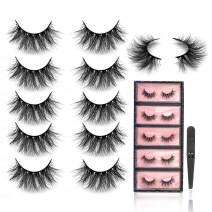 SWINGINGHAIR 3D Mink Eyelashes 20mm Eyelashes Fluffy False Eyelashes Fake Eyelashes Mink Lashes Fluffy Dramatic Mink Lashes Handmade 3D Lashes For Women,5 pairs|Drama1