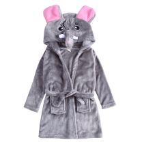 CHENXIN Unisex Kids Flannel Bathrobes Animal Coral Fleece Hooded Pajamas Sleepwear