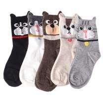 CHIC DIARY Women Christmas Socks Cozy Fuzzy Cotton Xmas Funny Crew Socks Winter Warm Novelty Holiday Socks