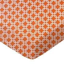 SheetWorld Fitted Portable / Mini Crib Sheet - Orange Links - Made In USA