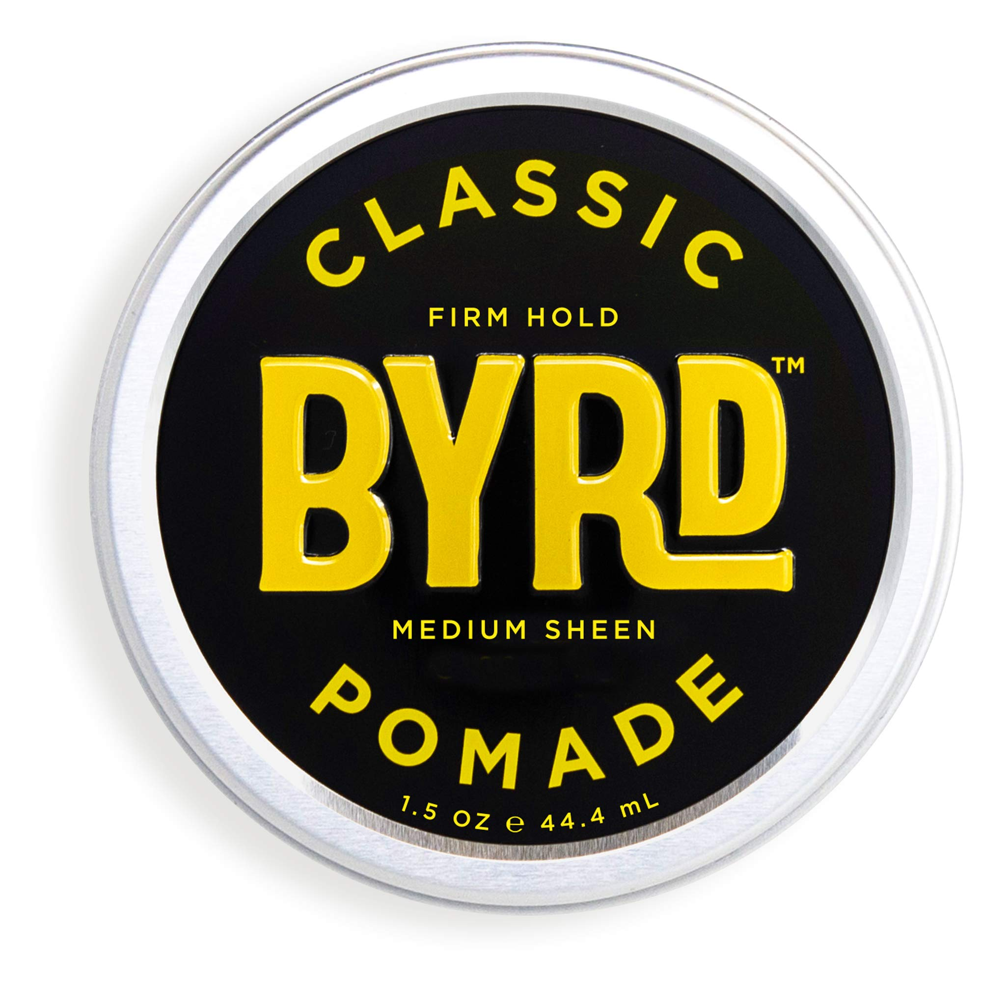 BYRD Classic Pomade - Firm Hold, Medium Sheen, For All Hair Types, Mineral Oil-Free, Paraben-Free, Phthalate-Free, Sulfate-Free, Cruelty-Free, Wax Based, 1.5 Ounces