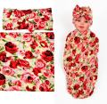 Newborn Swaddle Blankets and Headband Set for Girls and Boys,Baby Swaddle Receiving Blankets