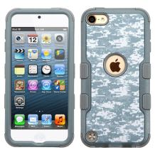 MYTURTLE iPod Touch 7th 6th 5th Generation Case Shockproof Hybrid Hard Silicone Shell Impact Cover with Screen Protector for iPod Touch 7 (2019), iPod Touch 5/6 (2015), Camouflage Universal
