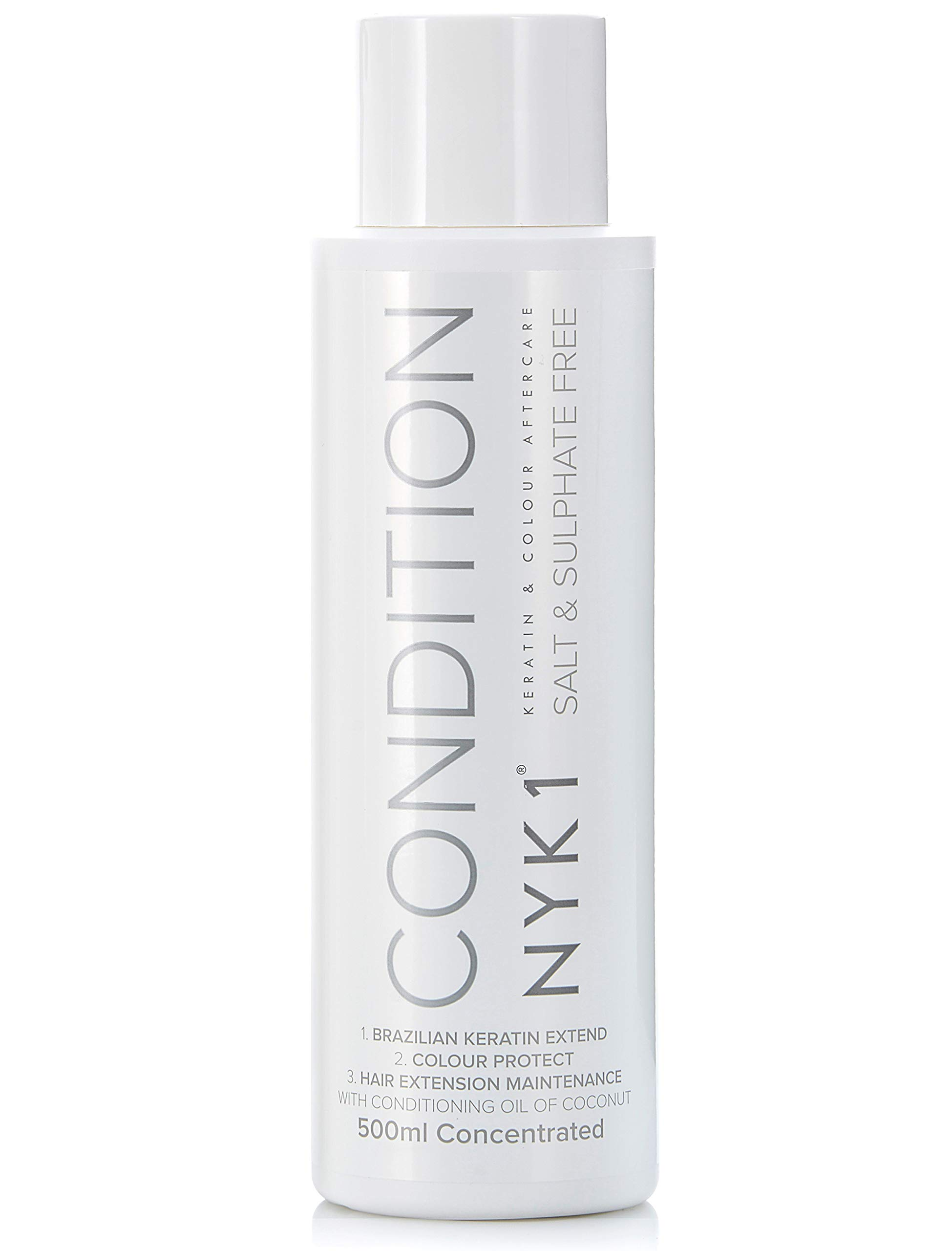 SALT SULFATE FREE CONDITIONER for Color Treated Hair (17 Fl Oz / 500ml) Best Hair Aftercare for Extensions (Unisex) Hair Color and Keratin Kit Treatment Straightening Damaged After Care Paraben Free