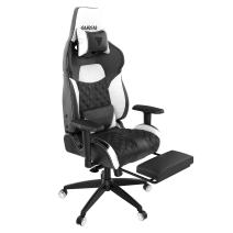 GAMDIAS Multi-Color RGB Gaming Chair High Back with Footrest Adjusting Headrest and Lumbar Support, Black/White (Achilles P1 Black/White)