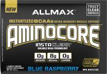ALLMAX Nutrition, Aminocore BCAAs, Blue Raspberry, 10.5 g Sample 3-Pack