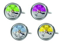Rösle Stainless Steel Steak and Meat Thermometers (Set of 4)