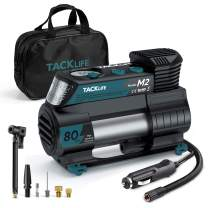 TACKLIFE M2 Tire Inflator for Car, 12V DC Portable Air Compressor with Digital Pressure Gauge, Auto Air Pump for Cars, Bikes, Balls and Other Inflatables Newest Upgraded Tire Inflator