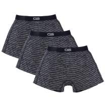 Mens 3-Pack Boxers - Silky and Smooth Material - Nylon Spandex Wicks Moisture