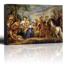 wall26 - Oil Painting of The Meeting of David and Abigail by Peter Paul Rubens - Baroque Style - Catholic, Christianity - Canvas Art Home Decor - 24x36 inches
