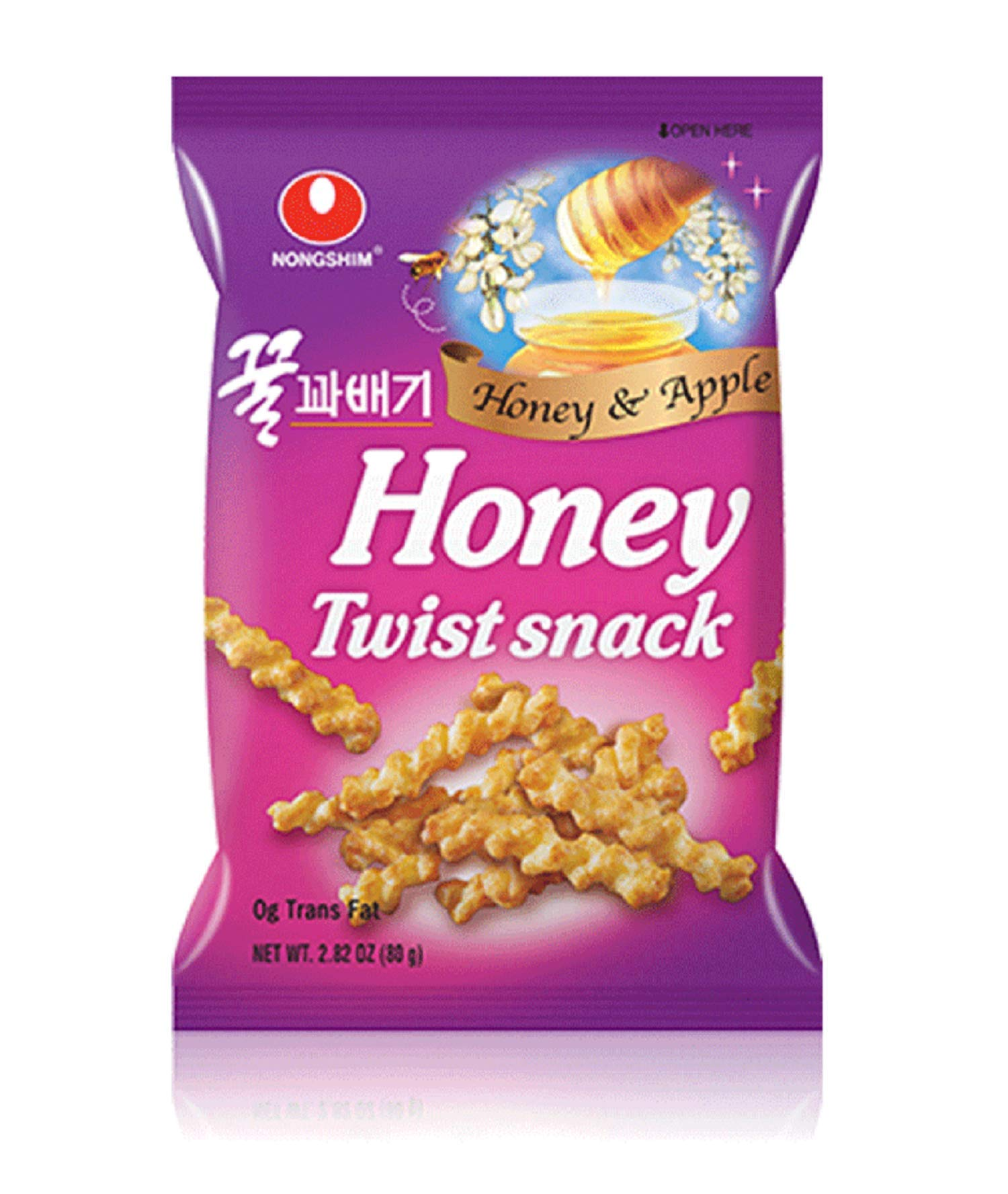 Nongshim Snacks, Honey Twist, 2.82 Ounce (Pack of 12)