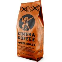 Kimera Koffee Amber Roast - Organic Ground Honey Processed Coffee Infused with Essential Brain Vitamins (12oz) Boost Energy Levels, Brain Function, Memory, Focus, and Athletic Performance
