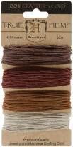 Hemptique Hemp Cord 4 Color Cards - Made with Love - Crafter's No. 1 Choice – Eco Friendly – Plant Hanger - Scrapbooking – Gardening – Macramé – Home Décor (Bronze Pack)