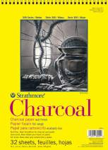 "Strathmore 300 Series Charcoal Pad, White, 9""x12"" Wire Bound, 32 Sheets"