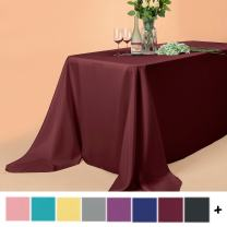 Remedios Rectangular Table Cloth 90 x 132 inch Polyester Tablecloth Table Cover for Wedding Restaurant Party Banquet Decoration, Burgundy