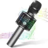 Tesoky Wireless Bluetooth Kids Karaoke Microphone,Best Karaoke Machine for Kids Fun at Party Home,Portable Handheld Toys for Kids Boy s Girls Age 3 4 5 6 7 8 9 10 (Black)