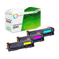 TCT Premium Compatible Toner Cartridge Replacement for HP 204A CF511A CF512A CF513A Works with HP Color Laserjet Pro MFP M181FW M180NW M154NW Printers (Cyan, Magenta, Yellow) - 3 Pack