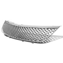 For 00-05 Chevy Impala ABS Plastic Mesh Style Front Upper Grille (Chrome) - 8th Gen W-body Hi-Mid