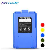 NKTECH BL-5 1800mAh 7.4V Li-ion Battery UV-5R Battery for BaoFeng Pofung UV-5R V2 Plus PRO DM-5R UV-5RA BF-F8HP BF-F9 V2 UV-5R5 UV-5X3 UV-5RE Plus UV-5RTP TYT TH-F8 Two Way Radio (Blue)