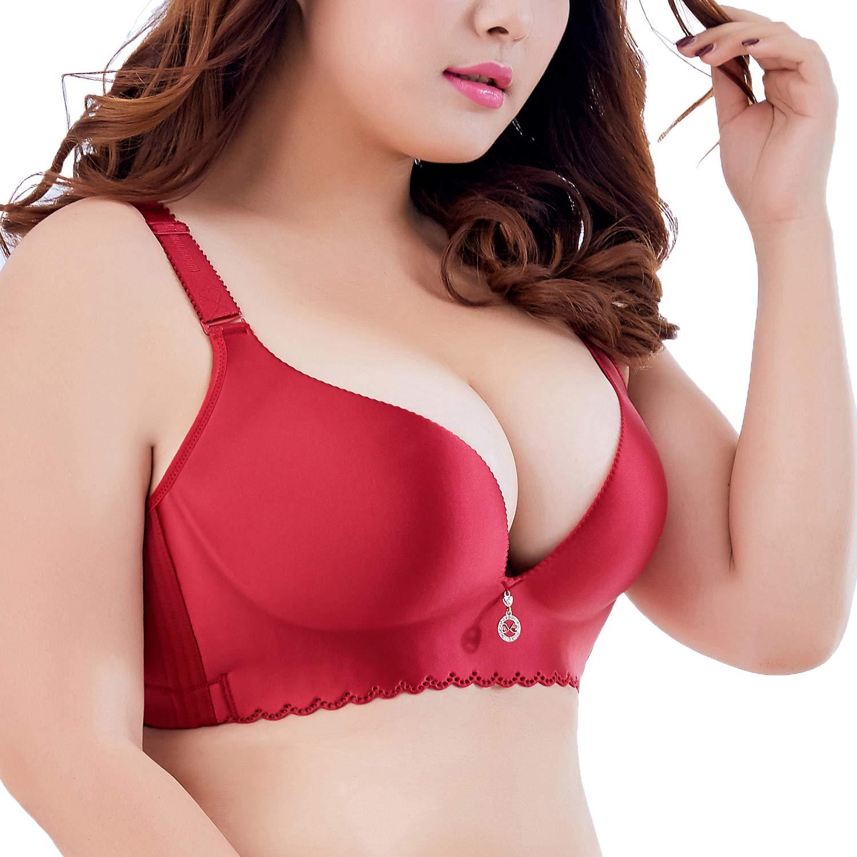 Ohrwurm Women Plus Size Push-up Bra Wire-Free Seamless Soft Cup Everyday Bra