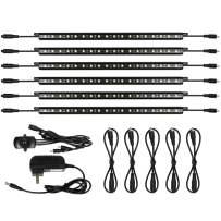 Mingdak LED Safe Lighting Kit - Linkable Motion Sensor Activated LED Light Bars for Under Cabinet, Gun Safe, Locker, Closet, Under Counter, Shelf, Showcase,5000K Daylight,6-Pack …