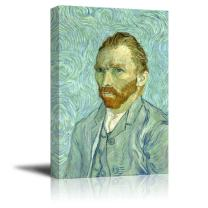 """Self Portrait by Van Gogh Giclee Canvas Prints Wrapped Gallery Wall Art   Stretched and Framed Ready to Hang - 32"""" x 48"""""""