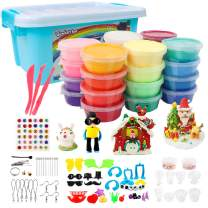 VANKERTER 24 Colors(0.7 Ounce Per Color) Air Dry Clay Kit Ultra Light Clay Magic Modeling Clay with Accessories, Tools
