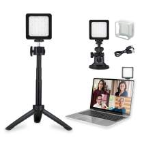 FLASHOOT CL-36 Conference Lighting Kit with Tripod & Suction Cup for Remote Working, Mini LED Video Light for Video Conferencing, Zoom Calls, Broadcast, Live Streaming,Adjustable Laptop Video Light