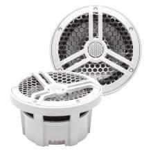"Skar Audio SK65M 6.5"" 2-Way Marine Full Range 320 Watt Coaxial Speakers, Pair (White)"