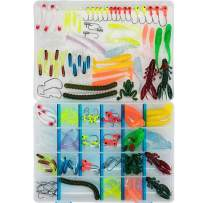SKYSPER Fishing Lures Set with Tackle Box, Saltwater Freshwater Lures Including Spinners, Soft Plastic Worms, Crank Bait, Jigs, Spoons, Topwater Lures for Trout Bass Salmon Crappie