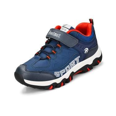 NYZNIA Boys Sneaker Tennis Athletic Waterproof Running Shoes for Girls Dark Blue Size 2 Little Kid