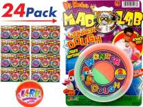 JA-RU Mad Lab Wonder Dough Cloud Slime (Pack of 24 Bulk) Bouncing Colorful Super Butter Soft, Great Party Favors - Item #5427-24p