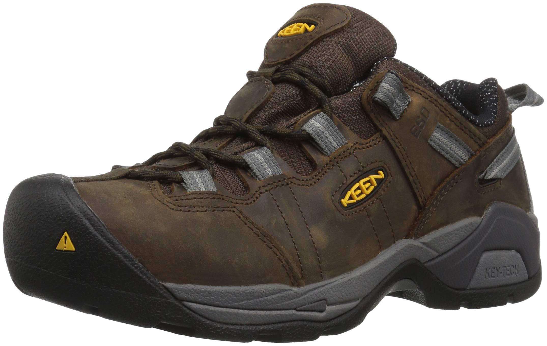 KEEN Utility Men's Detroit XT Low Steel Toe ESD Work Shoe,Cascade Brown/Gargoyle