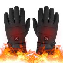 Lixada Heated Gloves, 3 Heating Temperature Adjustable Touchscreen Waterproof Warm Gloves for Men Women(Black)