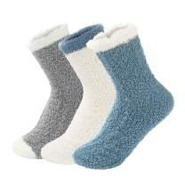 Century Star Women's Warm Super Soft Slipper Socks Microfiber Fuzzy Fluffy Cozy 3-8 Pairs Christmas Gift Home Socks