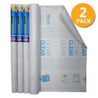"""BAZIC 18"""" X 1.5 Yard (54"""") Clear Self Adhesive Book Cover, Covering Film Easy Peel Protective Liner for Books Papers Documents, Protect Against Water Tear Dust, Archival Safe, 2-Roll"""