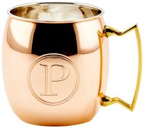 Old Dutch International Solid Moscow Mule Mug, 16-Ounce, Monogrammed P, Copper