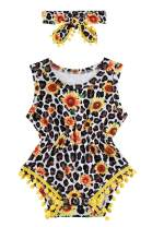 BFUSTYLE Newborn Toddler Baby Girl Floral Bodysuit Romper Summer Casual Outfit + Headband