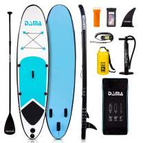 DAMA Youth 10' Inflatable Sup Stand Up Paddle Board, Drop Stitch, Youth Board, Premium Board Accessories, Floating Paddle, Single Hand Pump, Waterproof Bag, All Round Board Blue
