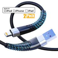 [ Apple MFi Certified ] 2Pack 10ft iPhone Charger Cable, CABEPOW Long Lightning Cable 10 Foot, High Fast iPhone Charging Cable with Metal Connector for iPhone 11/11Pro/11Max/XS/XR/XS Max/8/7/6/5S/SE