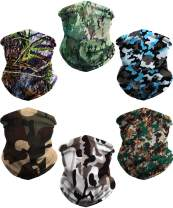 Neck Gaiter Face Cover Balaclava Headwear UV Protection Breathable Bandanas Scarf