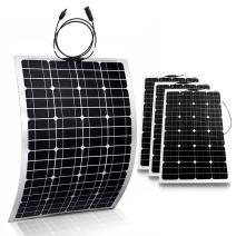 Genssi 4X 100W Mono Flexible Photovoltaic PV Solar Panel Module RV Boat Roof 400W Total