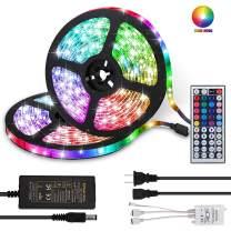 LED Strip Lights, TIK Tok Lights Daufri 32.8FT/10M RGB DC 12V LED Light Strip SMD5050 300 LEDs Waterproof Color Changing Flexible LED Strip Kit for Room, Bedroom, TV, Kitchen, Desk