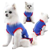 Recovery Suit for Dogs Cats After Surgery,Comfortable E Collar Alternative Pet T-Shirt After Surgery Wear for Dogs,Professional Dog Onesie with Zipper Blue
