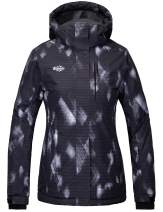 Wantdo Women's Mountain Waterproof Ski Jacket Windproof Colorful Print Rain Coat