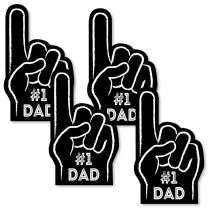 Big Dot of Happiness My Dad is Rad - Number 1 Dad Hand Decorations DIY Father's Day Essentials - Set of 20